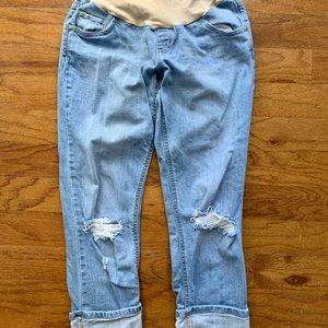 Maternity 'boyfriend' style cuffed jeans